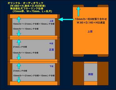 オーディオラック(自作簡易設計図)