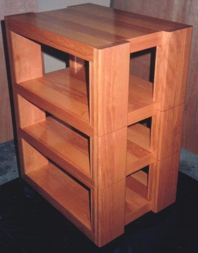 オリジナル木製オーディオラック-2