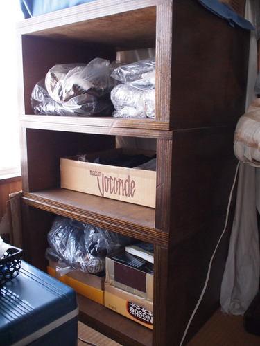 オリジナル木製オーディオラック-3